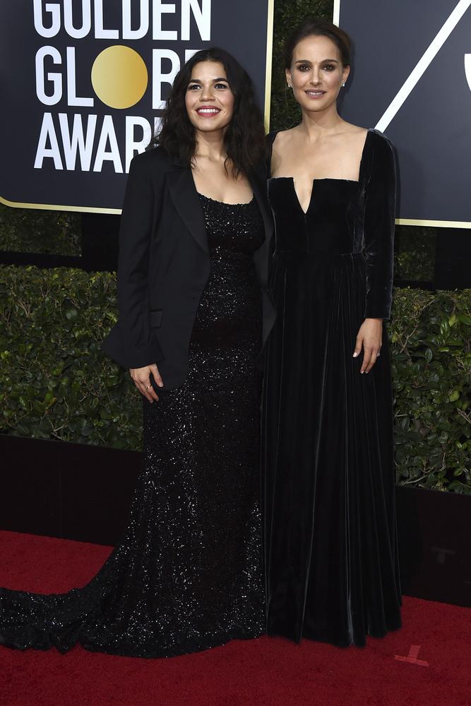 America Ferrera de Christian Siriano y Natalie Portman de Dior
