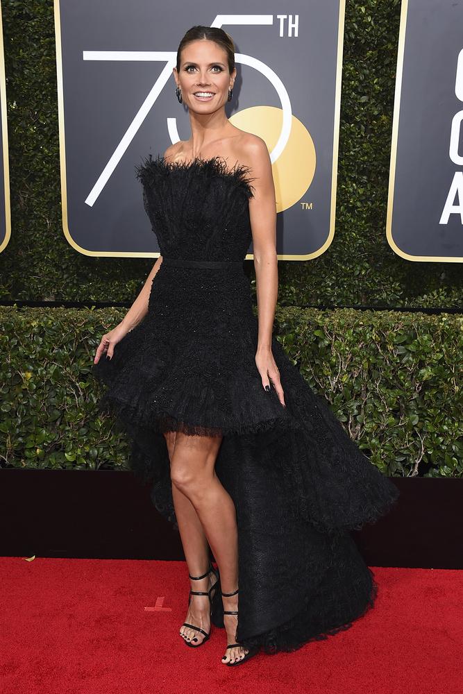 Heidi Klum de Ashi Studio Gown, joyas de Lorraine Schwartz